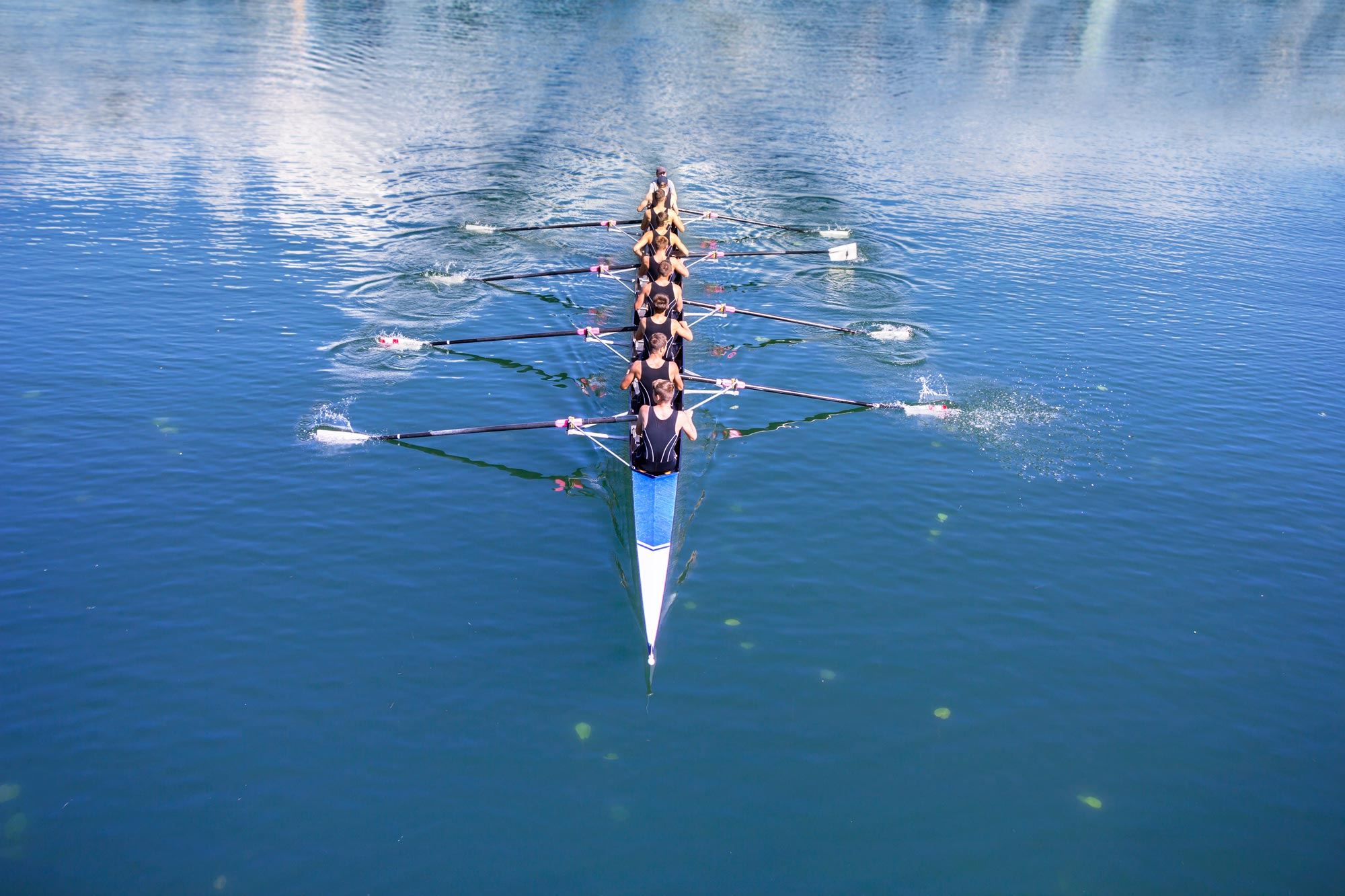 Image: Boat with 8 rowers